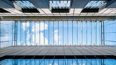 All-Glass Overhead Skylight Atrium
