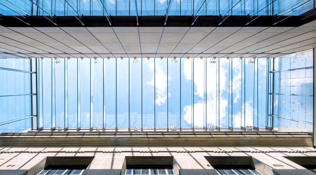 Glass Overhead Atrium